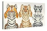 Premium Kunstdruck Wand-Bild - Kids Selection - See-Hear-Speak - 100x50cm - Leinwand-Druck in deutscher Marken-Qualität – Leinwand-Bilder auf Holz-Keilrahmen als moderne Wanddekoration