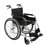 Shisky Rollstuhl faltbar,Rollstuhl-faltendes Licht-Auto-tragbarer ultraleichter Alter Mann-manueller Rollstuhl-Fester Reifen