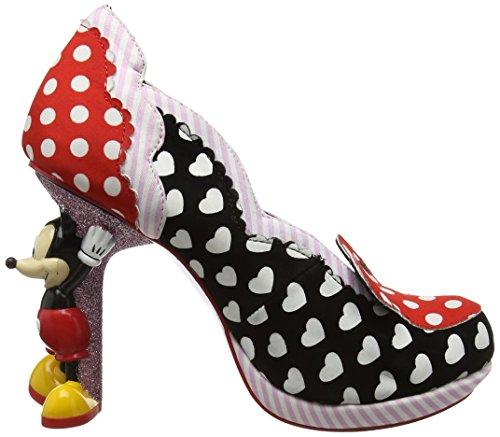 Scelta Irregolare Signore Minnie Mouse Pumps Nero (nero / Rosso)