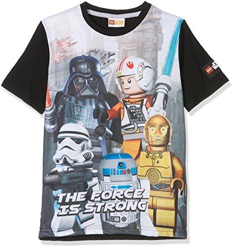 LEGO Sw-the Force-Kids T-Black, Felpa Bambino, Black (Black), 7-8 Anni