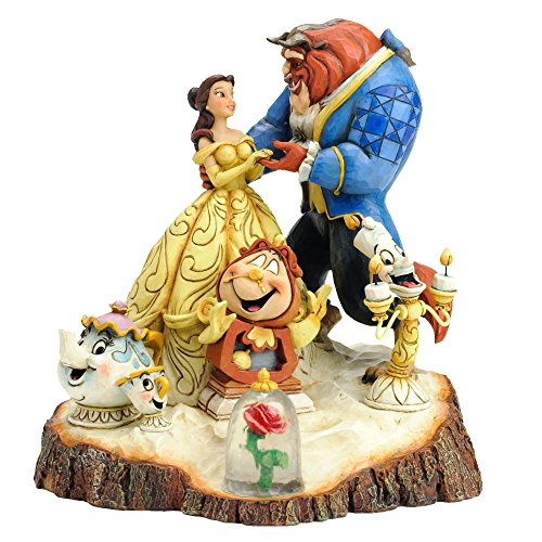 Preisvergleich Produktbild Enesco 4031487 Figur Disney Tradition Tale As Old As Time, Carved By Heart Beauty & The Beast Figur, 16,5 x 17,8 x 19,7 cm