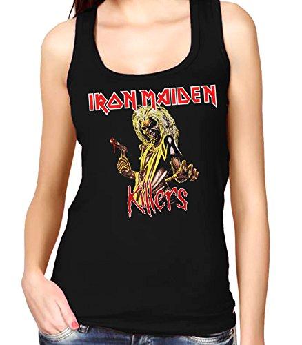 35mm - Camiseta Mujer Tirantes - Iron Maiden - Killers - Women'S Tank Top, NEGRA, L