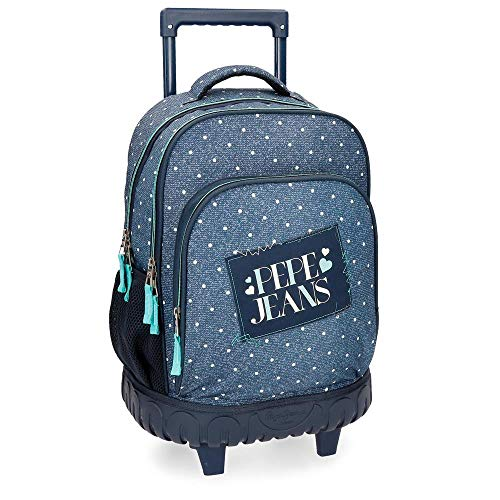 Pepe Jeans Olaia Blue Rolling Backpack 2W