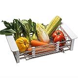 Küchenwagen HWF Waschbecken-Trockengestell-Teller-Gemüse-Zahnstange über Waschbecken-Regal-Teller Abtropffläche, justierbar