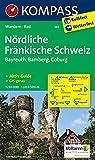 Nördliche Fränkische Schweiz - Bayreuth - Bamberg - Coburg: Wanderkarte mit Kurzführer und Radwegen. GPS-genau. 1:50000 (KOMPASS-Wanderkarten, Band 165) -