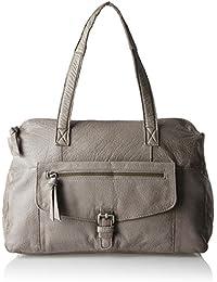 PIECES Damen Pcabby Leather Bag Noos Henkeltasche, 13 x 26 x 34 cm