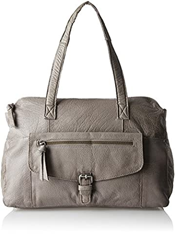 PIECES Pcabby Leather Bag Noos, Sacs menotte femme, Grau (Elephant