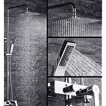 levantamiento total de cobre cuadrada kit de ducha de agua caliente y fría/pantalla de columna de ducha a presión alcachofa de la ducha-A