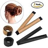 IBEET Bun Hair Maker, Magic Hair Styling Donut Bun Maker, Bun Bun Shapers para las mujeres Herramientas de peinado DIY Hairstyle, 2 Pack