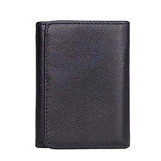51mVkWLif3L. SS324  - TIDING Paquete de tarjeta de billetera corta retro monedero monedero unisex de negocios informal