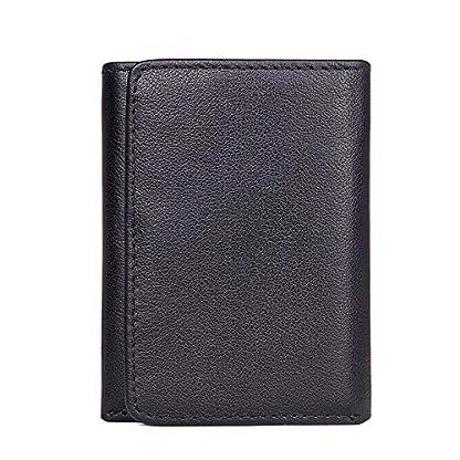 51mVkWLif3L. SS416  - TIDING Paquete de tarjeta de billetera corta retro monedero monedero unisex de negocios informal