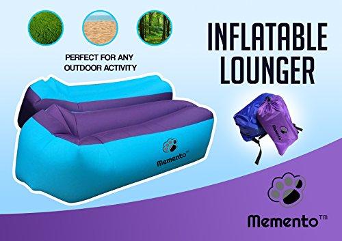 mementotm Original 2nd Generation Air-Liege, aufblasbare Couch/Bett Perfekte zum Entspannen am Strand, Pool, Camping & und den meisten geeignet Innen, während TV. - 2