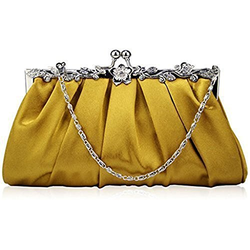 TrendStar Frauen Kupplungs Taschen Damen Kristall Abend Abschlussball Partei Hochzeit Taschen Gold