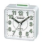 Casio TQ140-7 Beep Alarm Clock, White