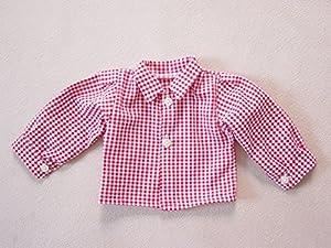 Camisa para muñecas Sturm 0924-1, de Color Rojo a Cuadros