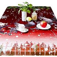 Fiveschoice 55.12 * 78.74 Zoll Weihnachtsdekorationen - Weihnachtstischdecken - Flanell-Cartoon-Tischdecke - Xmas Theme - Tischdecke - Xmas Partydekorationen