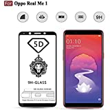 CEDO Xpro Full Glue Coverage 5D Edge To Edge 9H Tempered Glass Screen Protector For Oppo RealMe 1 (Black)