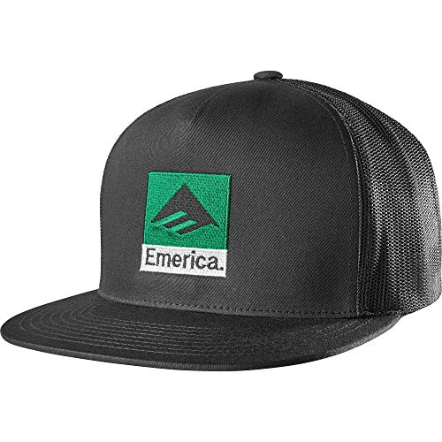 Emerica Herren Classic Snapback Baseball Cap, schwarz, Einheitsgröße