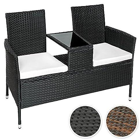 Salon De Jardin Noir - TecTake Salon de jardin canapé banc noir
