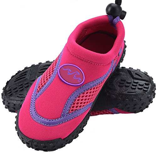 Deuba Wasserschuhe Badeschuhe Surfschuhe Aquaschuhe Strandschuhe Kinder Gr. 35 pink/violett