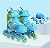 LNYF-OV Skates Kinder Full Flash Herrenrad Gerade Reihe Gleitschuh Set