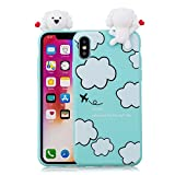 Coque iphone X Silicone, Coffeetreehouse 3D Ultra Fine TPU Housse Flexible Souple...
