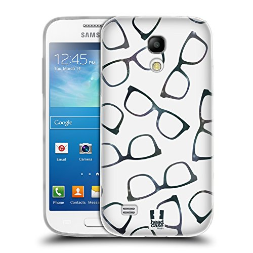 Head Case Designs Brille Hipster Muster Soft Gel Hülle für Samsung Galaxy S4 Mini I9190
