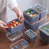 Conteneurs de stockage de fruits à légumes - Conteneurs de stockage de fruits à légumes frais - Bacs de rangement pour réfrig