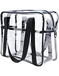 29f87699ad ONEGenug Clear Toiletry Bag Thick Transprent Cosmetic Bag Waterproof Makeup  Artist Large Bag Organizer Storage Easy…