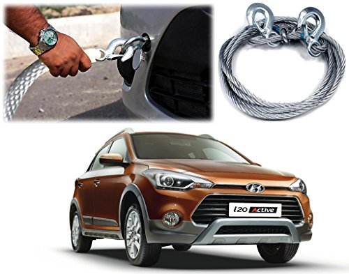 auto pearl-car auto full steel towing tow cable rope 2000kgs 6mm heavy duty 4mtr for - hyundai i20 active Auto Pearl-Car Auto Full Steel Towing Tow Cable Rope 2000kgs 6mm Heavy Duty 4Mtr For – Hyundai I20 Active 51mVq2En5JL