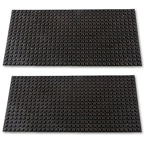 Katara- Set de 2 Placas de construcción, Color 2 x Negro (1672-096)