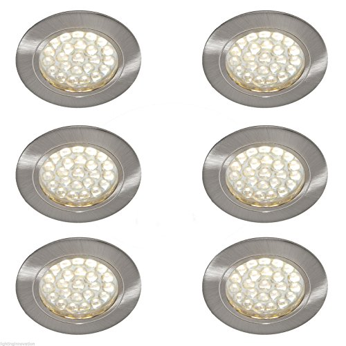 6 X 12V RECESSED SPOT LIGHTS DOWNLIGHTS CARAVAN MOTORHOME BOAT WARM WHITE LED'S