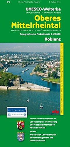 Welterbe Oberes Mittelrheintal 1. Koblenz 1 : 25 000. Topographische Freizeitkarte. par Wolfgang A. Gogolin