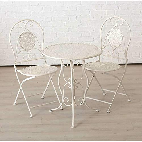 Mobilier jardin Chaise bistrot blanc