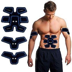 actopp electroestimulador muscular EMS Profesional Trainer tonificador cinturón Abdominal Portátil para abdomen brazos piernas Recargable con cable USB 25intensidad Sin Cables