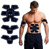ACTOPP Elettrostimolatore Muscolare EMS Professionale Trainer Tonificante Cintura Addominale Portatile per Addome Braccia Gambe Ricaricabile con Cavo USB 25 Intensità Senza Fili