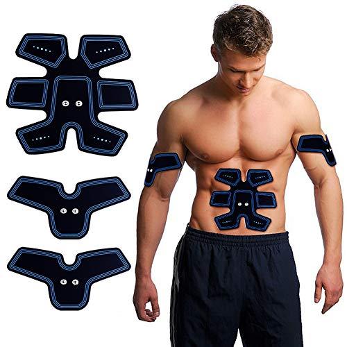 Muskelstimulator ACTOPP USB Wiederaufladbare Elektrische Muskelstimulation EMS Gerät Training Gerät Elektrostimulatoren Damen Herren Muskeltrainer Muskelaufbau Bauch Arm Massage Gerät Home Fitness