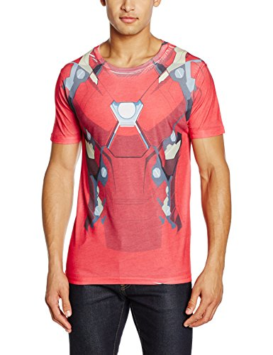 Civil War-Sublimated Iron Man Suit Costume, Rot, Small (Iron Man Kostüme Männer)