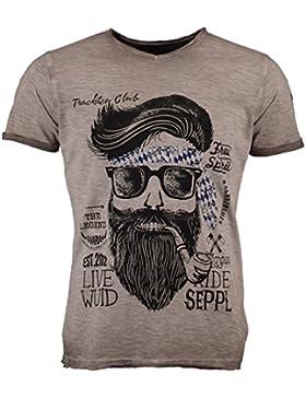 HangowearHerrenTrachten-T-Shirt Kenny Bavaria Beige