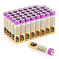 Pack économique contenant 40 piles AAA GP Batteries. Ce pack contient des piles alcalines LR03/AAA jetables fiables, performantes et de longue durée qui conviennent à de nombreux appareils alimentés par des piles AAA. Chaque pile AAA GP Extra alcalin...