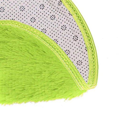 Tappeto artificiale in agnello | morbido peloso camera da letto o soggiorno morbido bagno camera da letto pavimento doccia tappeto rotondo tappetino antiscivolo