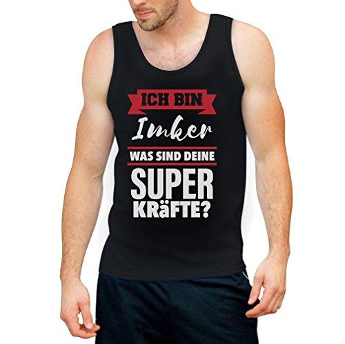 Geschenke für Imker - Ich bin IMKER Was sind deine Superkräfte? Tank Top Schwarz