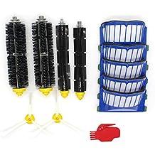 raogoodcx lado cepillo & Hepa filtros y cepillo de cerdas y Flexible Beater Cepillo de repuesto para IROBOT ROOMBA 500600Series 536550551585595620630650660680robótico vacío partes