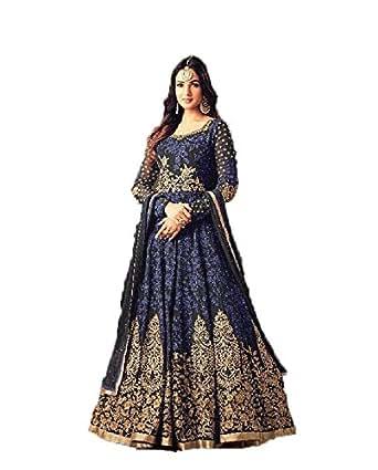 Diva & Diya Women's Embroidered Semi-Stitched Salwar Suit