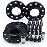 TuningHeads/H&R .0437664.DK.B75725-12-15 ABE Spurverbreiterung Blackline, VA 24 mm/HA 30 mm + Radschrauben + Felgenschlösser