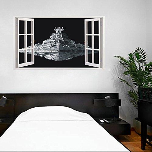 Zyhycreative 3d stereo rimovibile impermeabile muro adesivi muro sconto 100cm 60 *