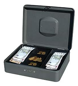 PAVO 8014408 12 pouces Cash Boite avec Combination Lock - Foncé Gris