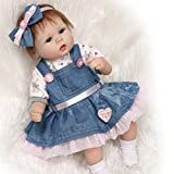 """17"""" Newborn Baby Dolls Silicone Vinly 45CM Reborn Babys Doll for Girl Gifts Hots, Suitable for ages 3+"""