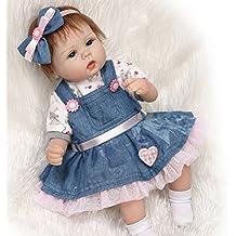 """17"""" Muñeca Recién Nacida Lifelike de Las Muñecas Del Bebé Realista Silicone Vinly 45cm Para Los Juguetes Del Regalo de la Muchacha Caliente Reborn Baby Doll"""