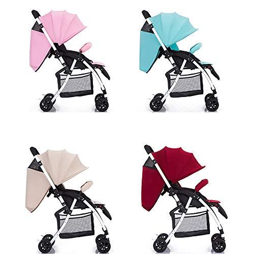 JIE KE Poussette pour bébé Peut s'asseoir inclinable Ultra léger Poids Chiant Chariot à Deux Voies pour Enfants (Couleur : Silver)